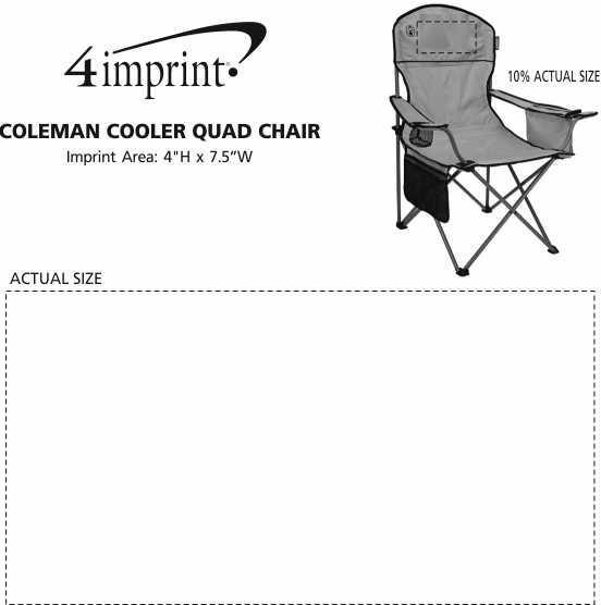 Imprint Area of Coleman Cooler Quad Chair