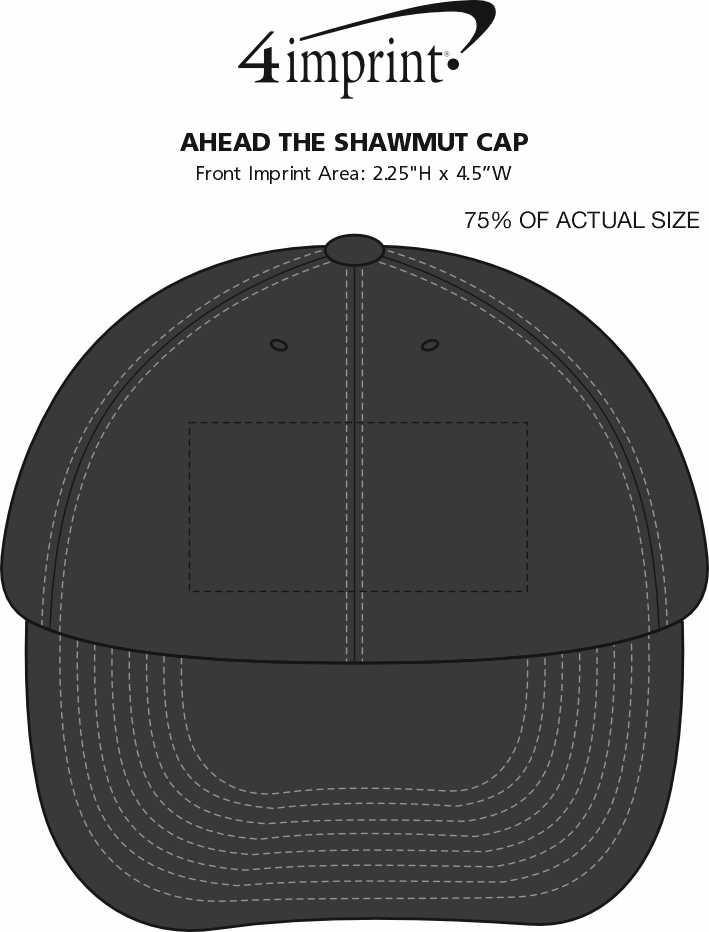 Imprint Area of AHEAD The Shawmut Cap