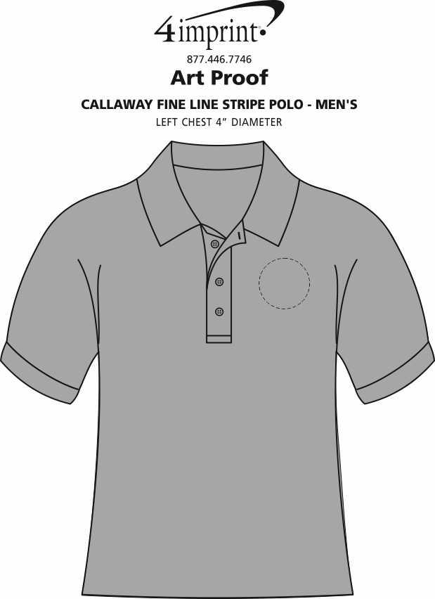 Imprint Area of Callaway Fine Line Stripe Polo - Men's