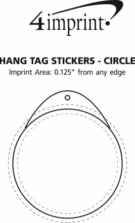 Imprint Area of Hang Tag Stickers - Circle
