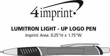 Imprint Area of Lumitron Light-Up Logo Pen
