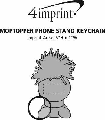 Imprint Area of MopTopper Phone Stand Keychain