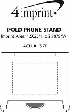 Imprint Area of iFold Phone Stand