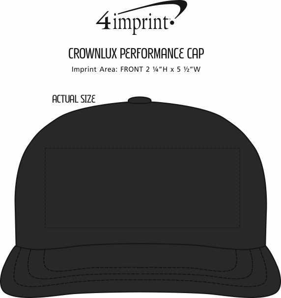 Imprint Area of CrownLux Performance Cap
