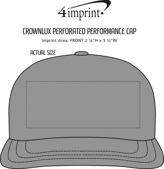 Imprint Area of CrownLux Perforated Performance Cap