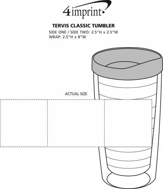 Imprint Area of Tervis Classic Tumbler - 16 oz. - 24 hr