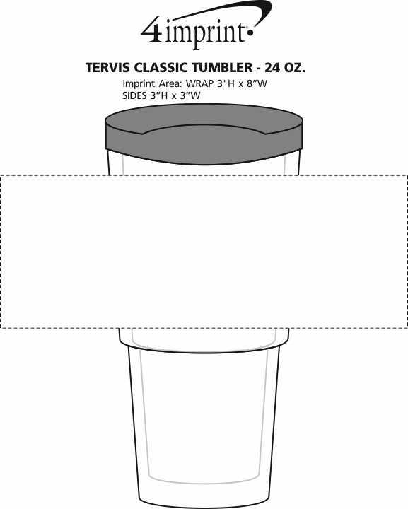 Imprint Area of Tervis Classic Tumbler - 24 oz. - 24 hr