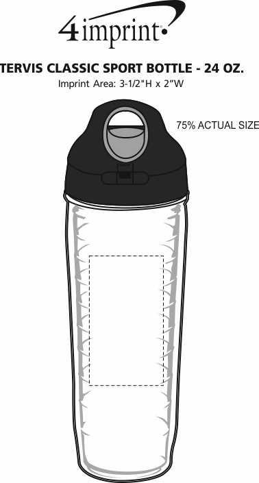 Imprint Area of Tervis Classic Sport Bottle - 24 oz.