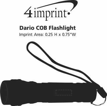Imprint Area of Dario COB Flashlight