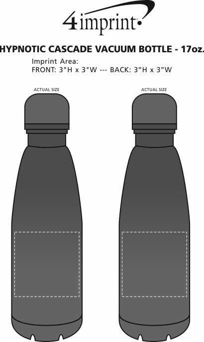 Imprint Area of Hypnotic Cascade Vacuum Bottle - 17 oz.