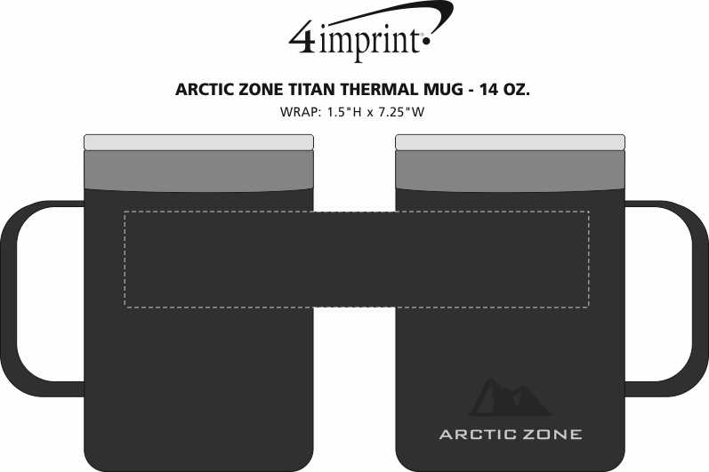 Imprint Area of Arctic Zone Titan Thermal Mug - 14 oz.