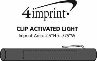 Imprint Area of Clip Activated Light