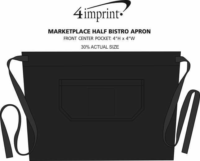 Imprint Area of Marketplace Half Bistro Apron
