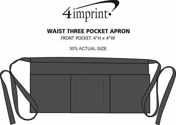 Imprint Area of Three-Pocket Waist Apron with Pen Pocket