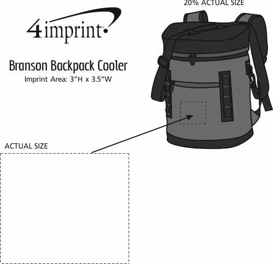 Imprint Area of Branson Backpack Cooler