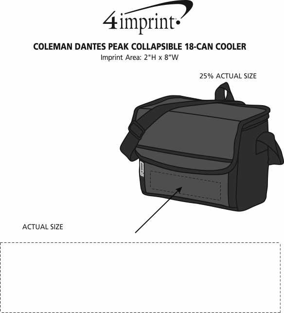 Imprint Area of Coleman Dantes Peak Collapsible 18-Can Cooler