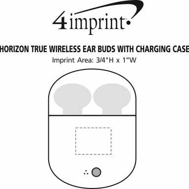 Imprint Area of Horizon True Wireless Ear Buds with Charging Case