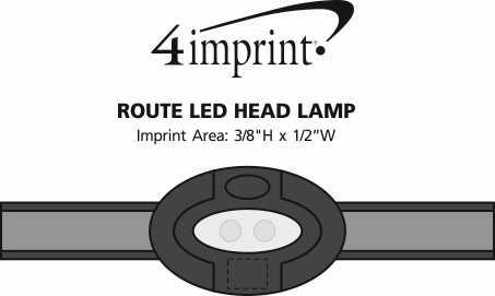 Imprint Area of Route LED Headlamp