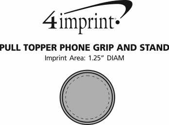 Imprint Area of Pull Topper Phone Grip and Stand