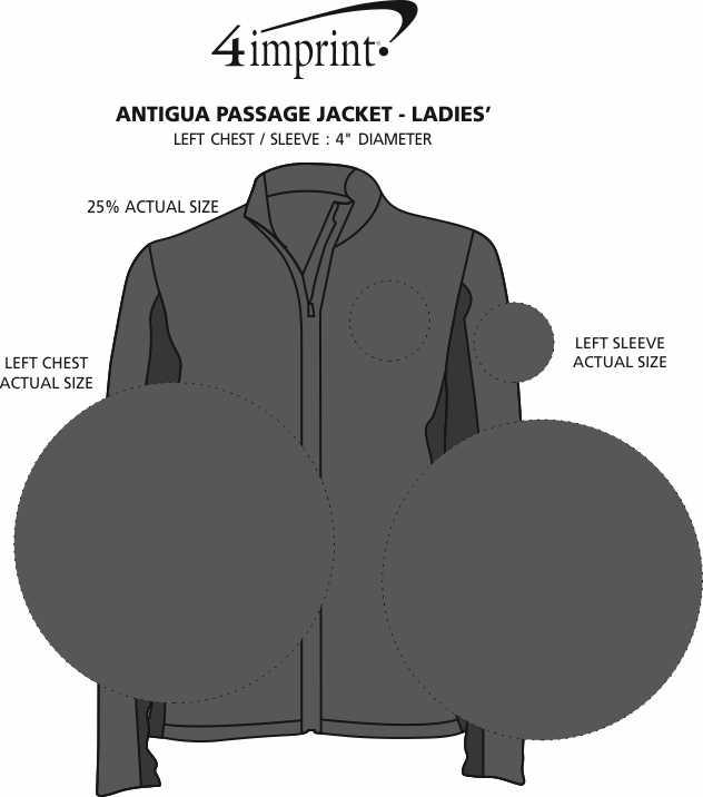 Imprint Area of Antigua Passage Jacket - Ladies'