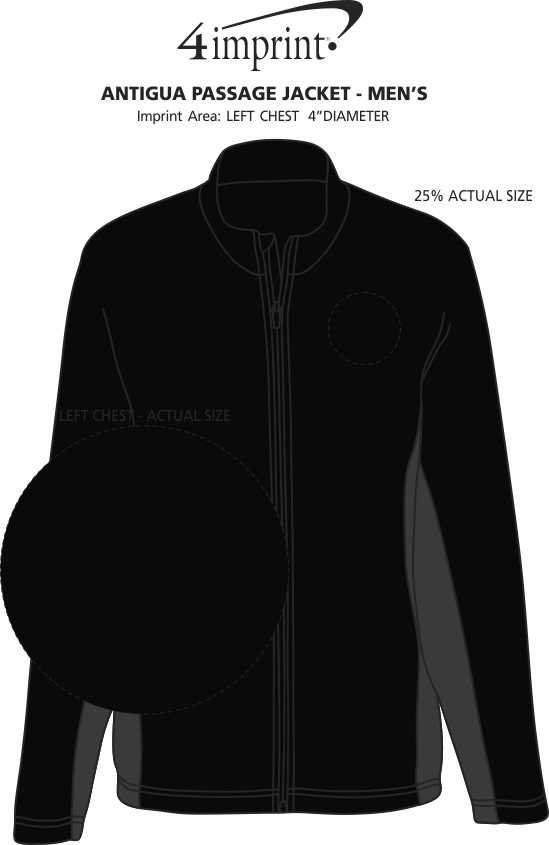 Imprint Area of Antigua Passage Jacket - Men's