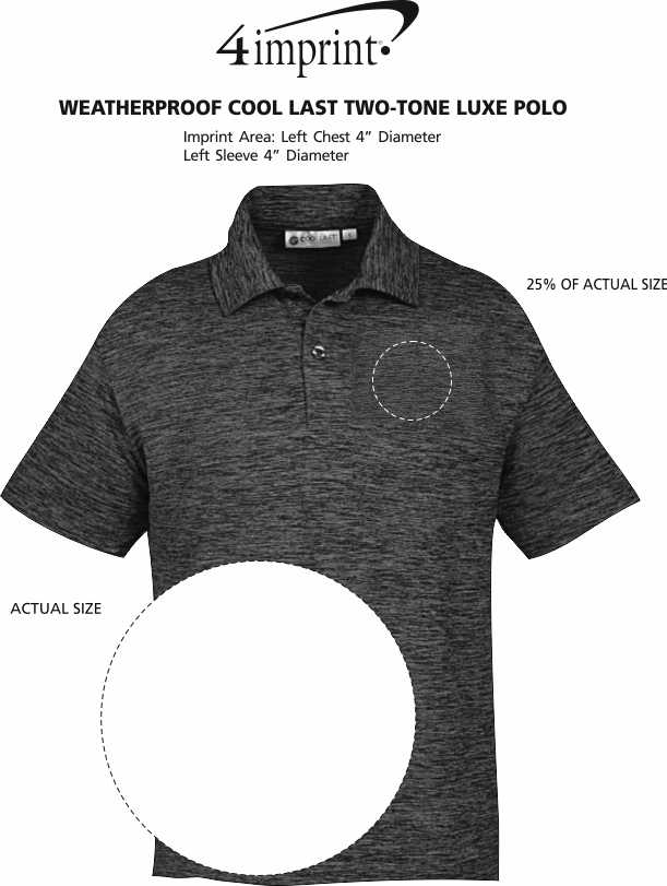Imprint Area of Weatherproof Cool Last Two-Tone Luxe Polo