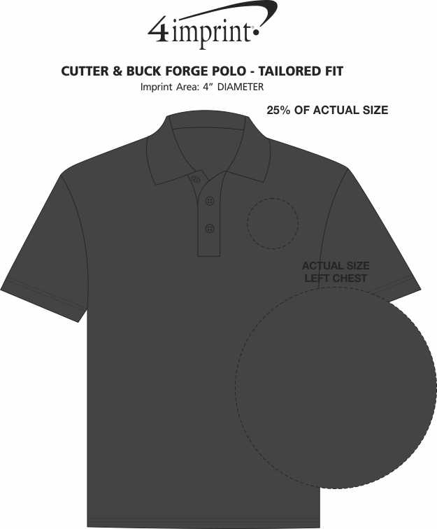 Imprint Area of Cutter & Buck Forge Polo - Tailored Fit