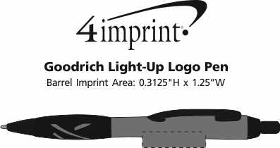 Imprint Area of Goodrich Light-Up Logo Pen