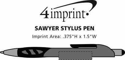 Imprint Area of Sawyer Stylus Pen