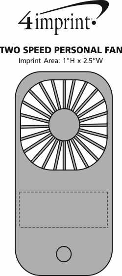 Imprint Area of Two Speed Personal Fan