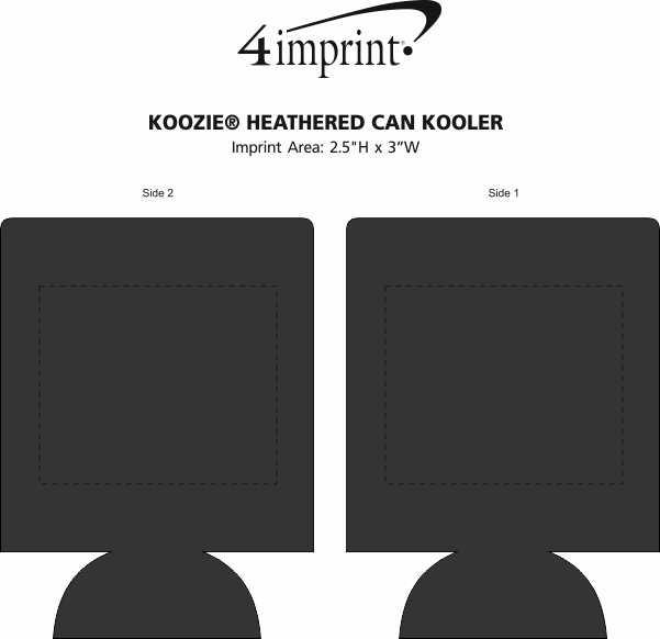 Imprint Area of Koozie® Heathered Can Kooler