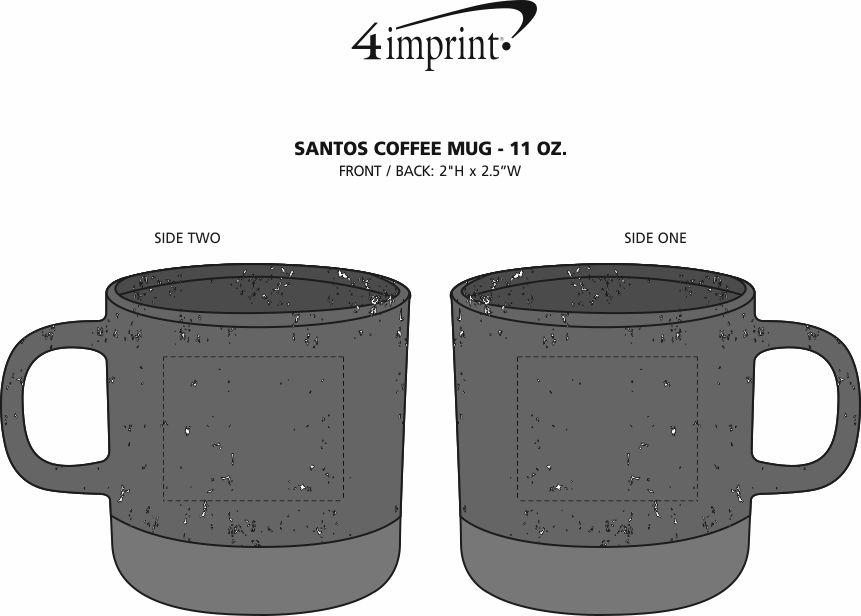 Imprint Area of Santos Coffee Mug - 11 oz.