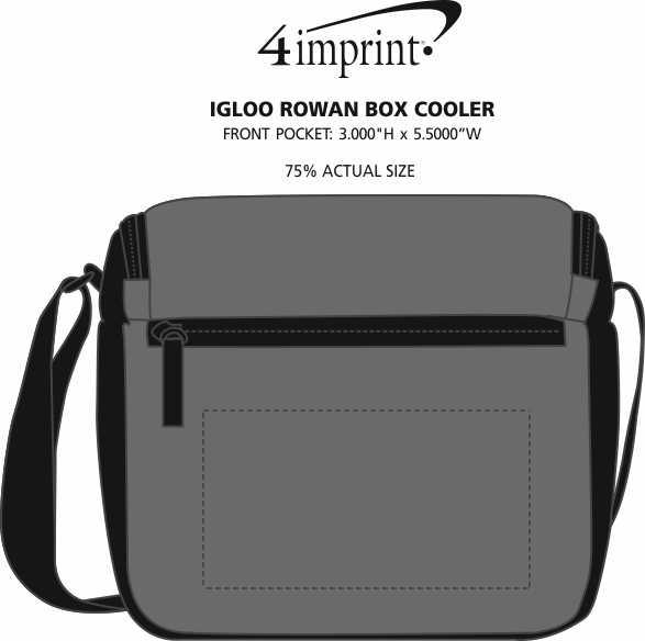 Imprint Area of Igloo Rowan Box Cooler