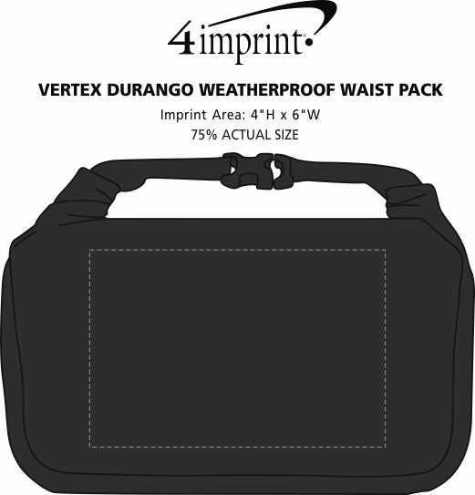 Imprint Area of Vertex Durango Weatherproof Waist Pack