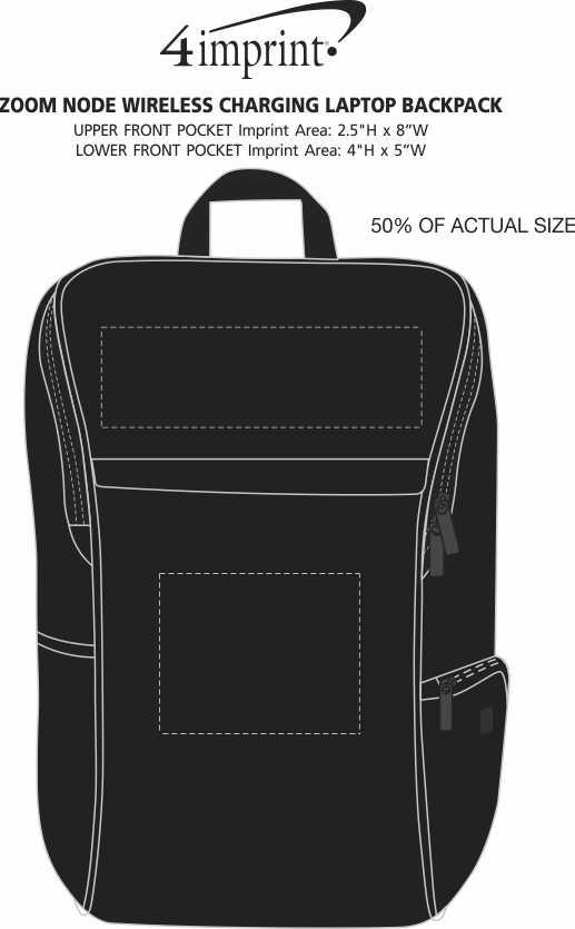 Imprint Area of Zoom Node Wireless Charging Laptop Backpack