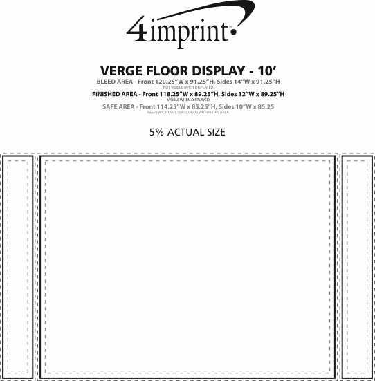Imprint Area of Verge Floor Display - 10'