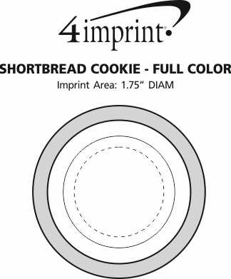 Imprint Area of Shortbread Cookie - Full Color