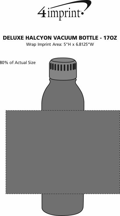Imprint Area of Deluxe Halcyon Vacuum Bottle - 17 oz.
