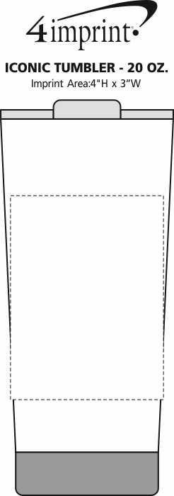 Imprint Area of Iconic Tumbler - 20 oz.