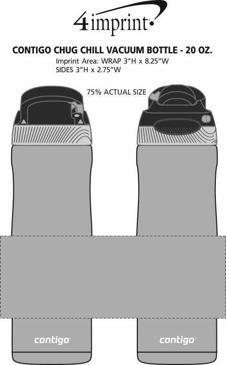 Imprint Area of Contigo Chug Chill Vacuum Bottle - 20 oz.