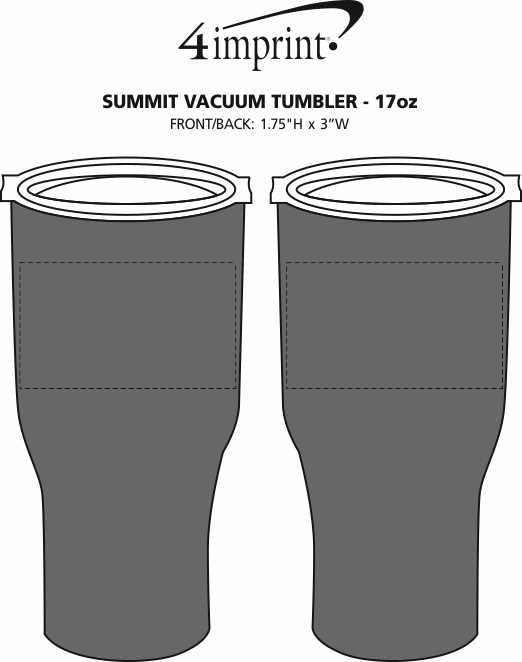 Imprint Area of Summit Vacuum Tumbler - 17 oz.