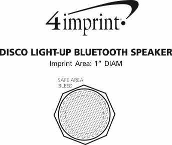 Imprint Area of Disco Light-Up Bluetooth Speaker