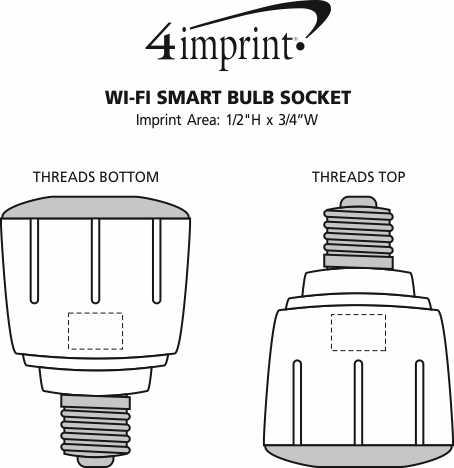 Imprint Area of Wi-Fi Smart Bulb Socket - 24 hr