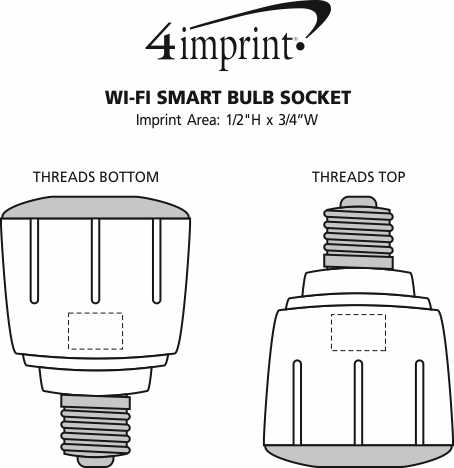 Imprint Area of Wi-Fi Smart Bulb Socket