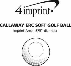 Imprint Area of Callaway ERC Soft Golf Ball - Dozen