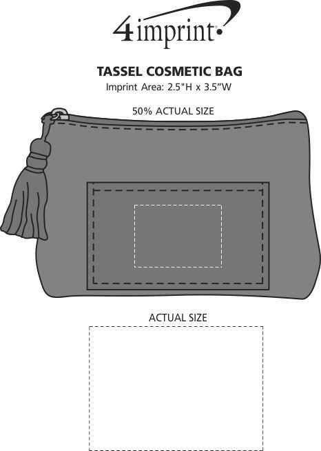 Imprint Area of Tassel Cosmetic Bag