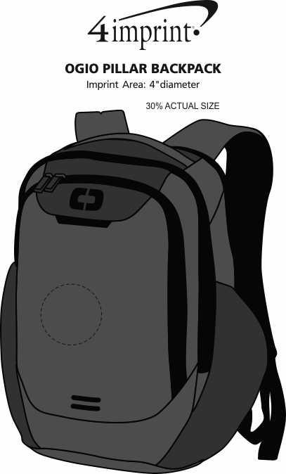 Imprint Area of OGIO Pillar Backpack