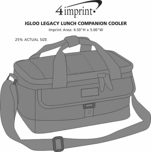 Imprint Area of Igloo Legacy Lunch Companion Cooler