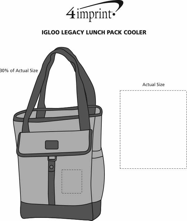 Imprint Area of Igloo Legacy Lunch Pack Cooler