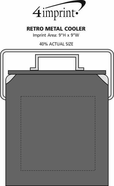 Imprint Area of Retro Metal Cooler